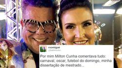 As pessoas estão apaixonadas pela voz de Milton Cunha, comentarista do Carnaval na