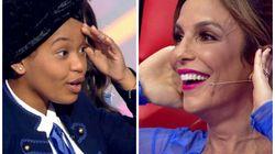 Ivete 'não abandona' Franciele no The Voice Kids e faz a alegria do