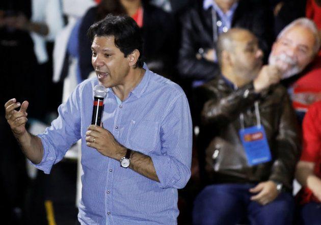 Fernando Haddad discursa na convenção nacional do