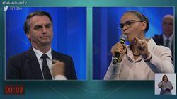 A sova que Marina deu em Bolsonaro sobre mulheres foi auge da tensão no debate da
