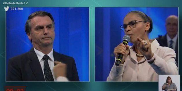 Marina confronta Bolsonaro no debate da