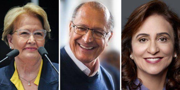 Geraldo Alckmin confundiu Ana Amélia, sua vice, com Kátia Abreu, vice do