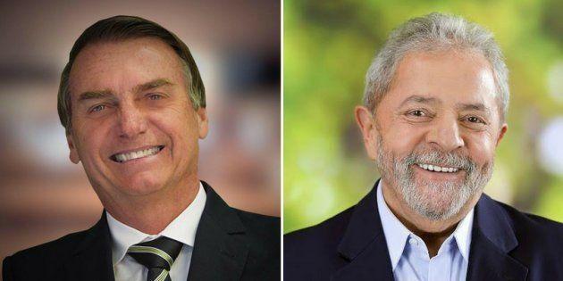 Jair Bolsonaro e Lula são os candidatos a presidente mais rejeitados do