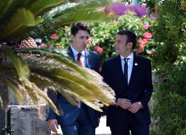 O 'bromance' entre Justin Trudeau e Emmanuel Macron reaviva o que há de melhor em
