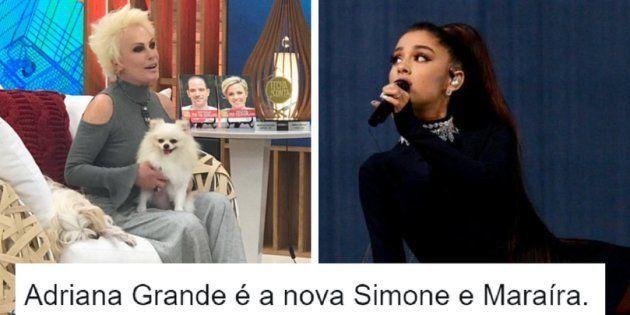 A apresentadora do programa matinal da Globo, Ana Maria Braga, confundiu o nome da cantora americana...