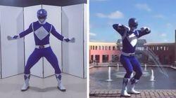 Este Ranger Azul dançarino é, definitivamente, o herói que o Brasil