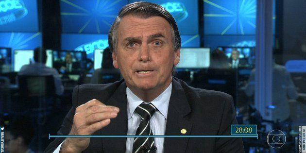 Jair Bolsonaro foi o 2ºcandidato a passar por entrevista no Jornal