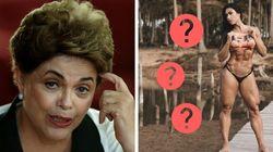 O dia em que as pessoas enxergaram o rosto de Dilma Rousseff no joelho de Gracyane