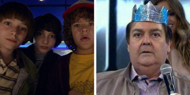 Faustão narrando o trailer de 'Stranger Things' é a prova de que a internet brasileira é o melhor lugar...
