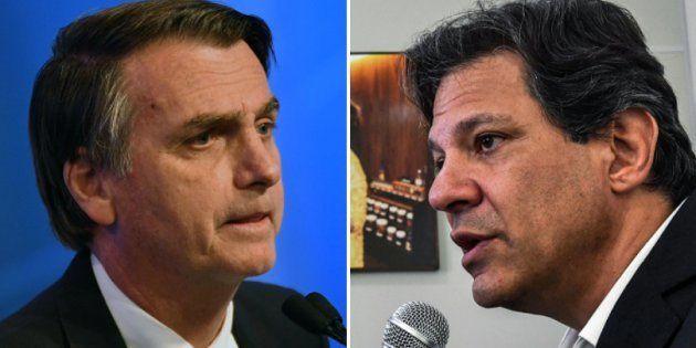Jair Bolsonaro e Fernando Haddad devem se enfrentar no 2º