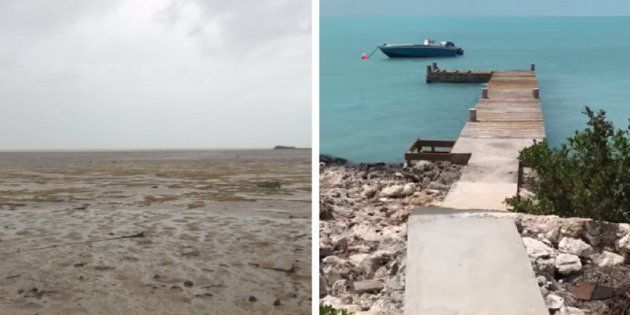 Mar 'volta' para as Bahamas depois do Furacão Irma 'sugar água' e vídeo mostra lugar