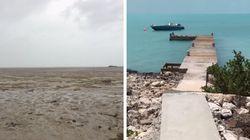 Mar 'volta' para as Bahamas depois do Furacão Irma e vídeo mostra lugar