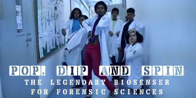 """Natalia Oliveira decidiu usar a dança para apresentar sua tese em""""Desenvolvimento de Biossensores para..."""