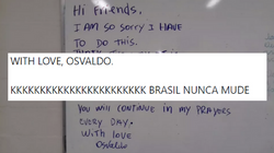 'With love, Osvaldo': Um recado em inglês de um fugitivo do ES está deixando as pessoas
