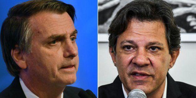 Jair Bolsonaro e Fernando Haddad devem disputar o 2º turno, de acordo com o