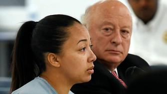 Cyntoia Brown, a woman serving a life sentence for killing a man when she was a 16-year-old prostitute, asks for a second chance during a clemency hearing Wednesday, May 23, 2018, at Tennessee Prison for Women in Nashville, Tenn. It is her first bid for freedom before a parole board since the 2004 crime. (Lacy Atkins /The Tennessean via AP, Pool)
