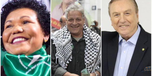 Vera Lúcia (PSTU), João Goulart Filho (PPL) e José Maria Eymael (DC): os candidatos nanicos das eleições