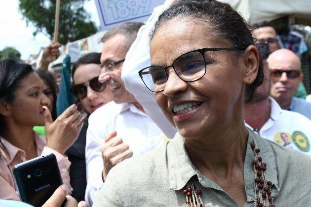 Marina Silva, candidata à Presidência pela Rede, faz campanha em Vitória, no Espírito