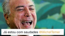 Ontem odiado, hoje exaltado: Internet pede para Michel Temer permanecer no