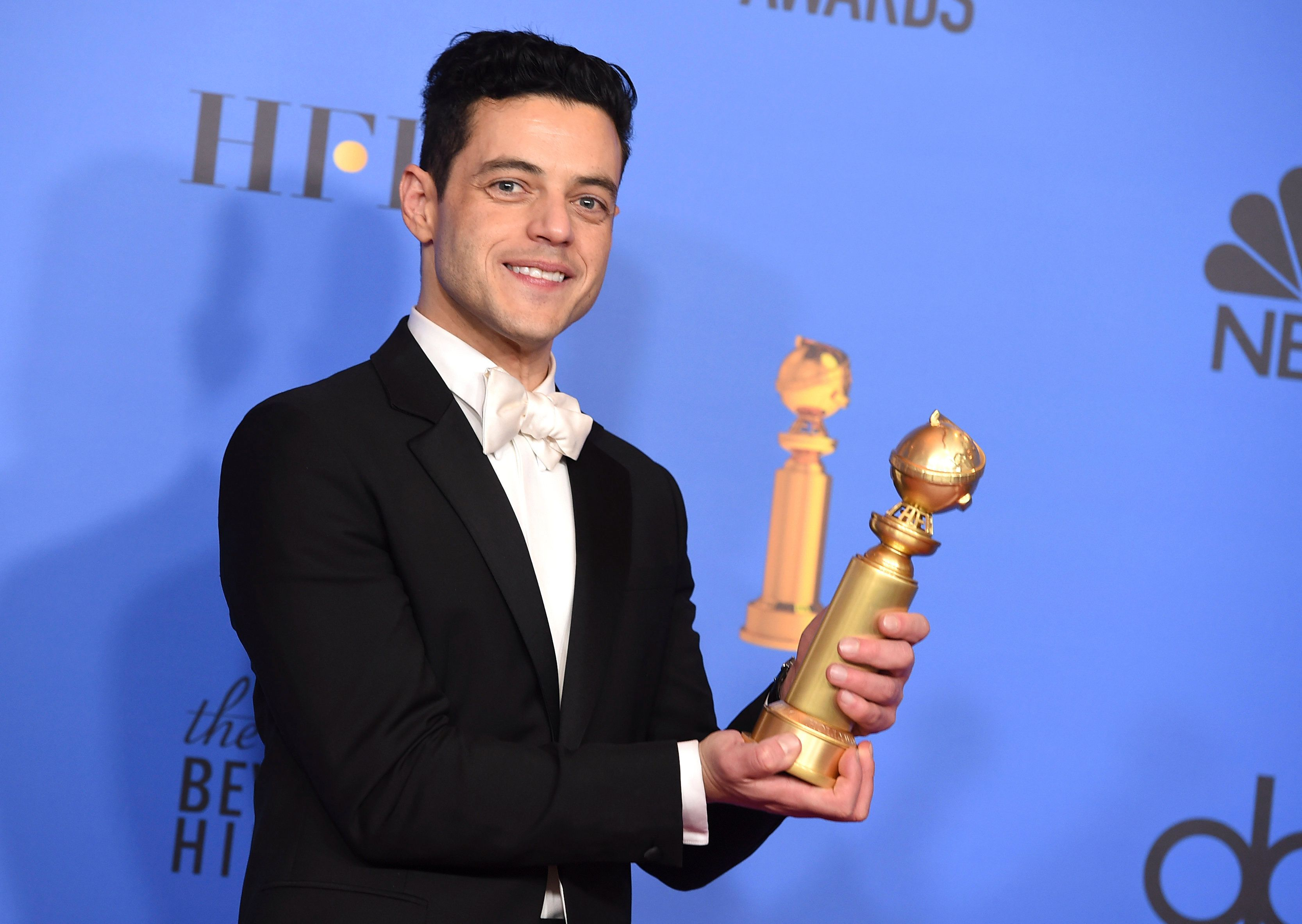 "Rami Malek, winner of best actor in a drama for ""Bohemian Rhapsody."""