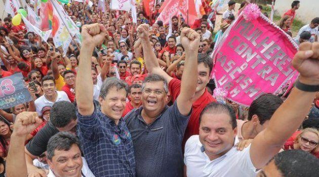Fernando Haddad fez campanha no Maranhão e mostrou otimismo na
