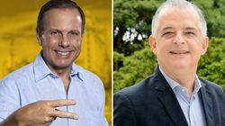 Empate técnico no limite da margem de erro: João Doria, 52%, Márcio França,