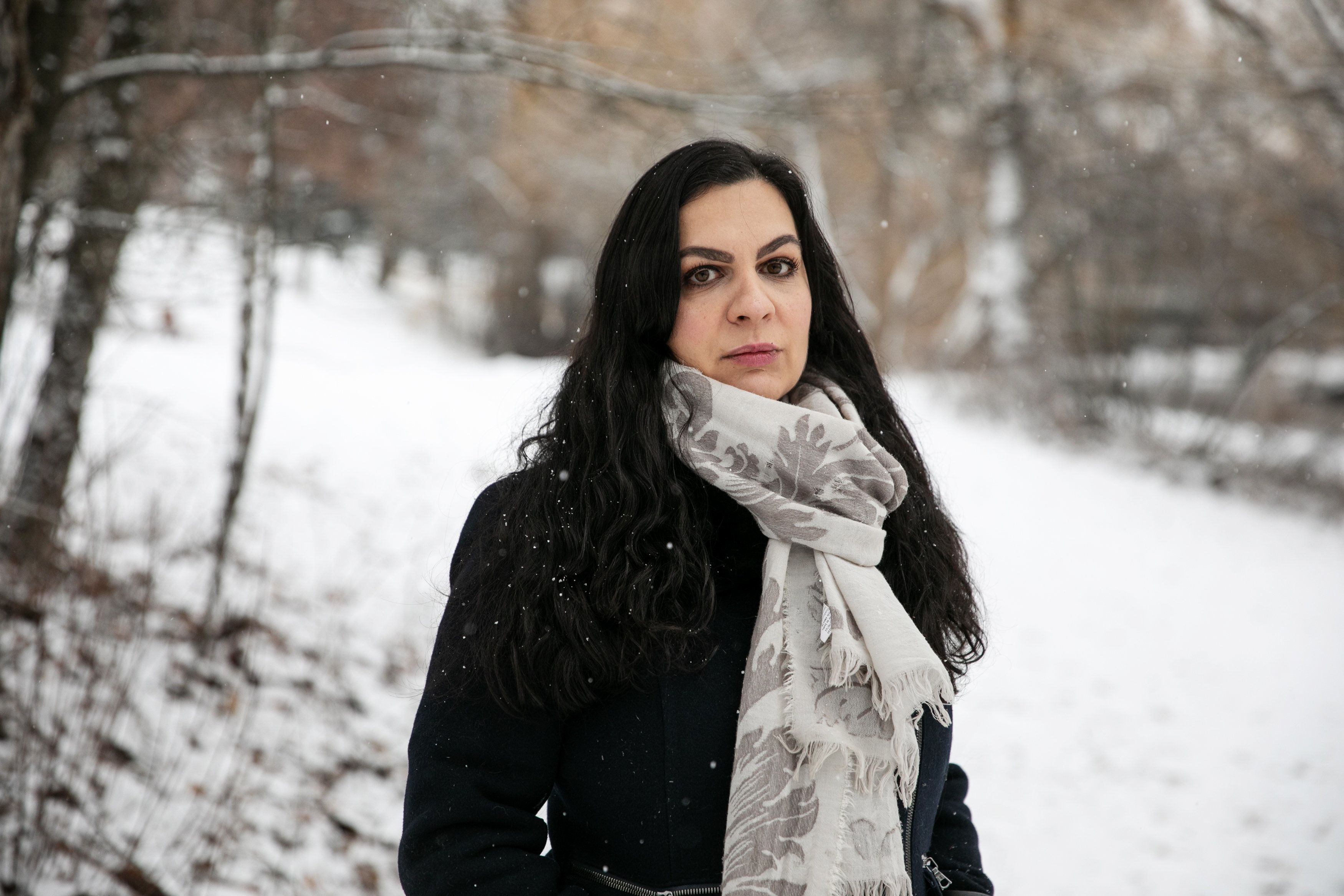 WHITEFISH, MONTANA - December 10, 2018: NIna Kouprianova poses for a portrait in Whitefish. Ilana Panich-Lisman for the Huffington Post