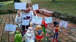 Este é o melhor protesto contra Trump que uma garotinha de 4 anos poderia