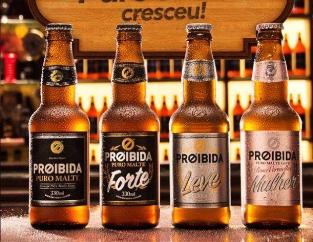 Cerveja da marca Proibida lança