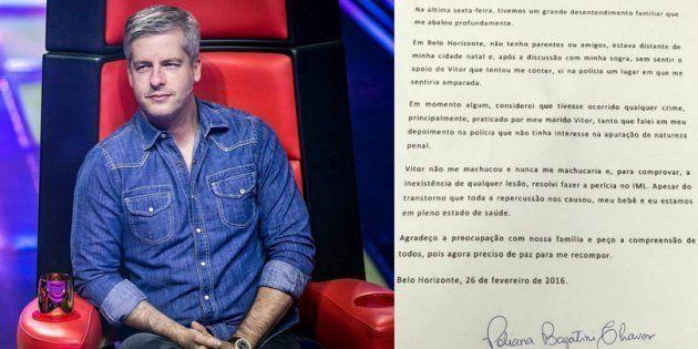Victor Chaves foi denunciado pela mulher, Poliana Bagatini, na sexta-feira (24), em Belo