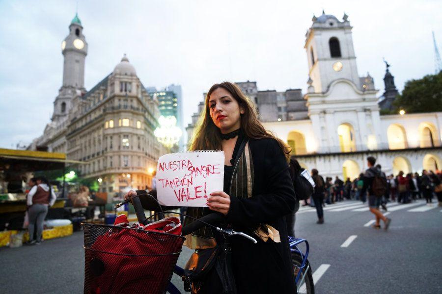Uma das manifestantes afirma