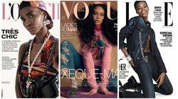 A beleza negra está em destaque nas capas de 3 revistas de moda do Brasil. E isso é