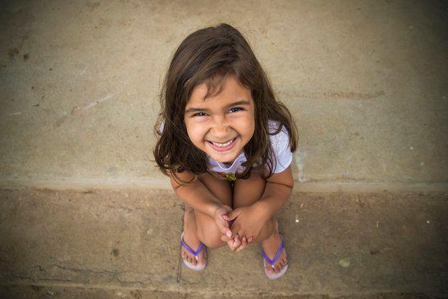 Ana Liz Fraga*, 6 anos, vive na mesma cidade das meninas ciganas, mas tem sonhos bem diferentes pra própria