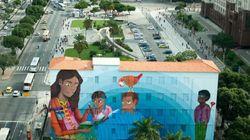 Maior grafite já pintado por uma mulher é obra de brasileira. E é uma homenagem às