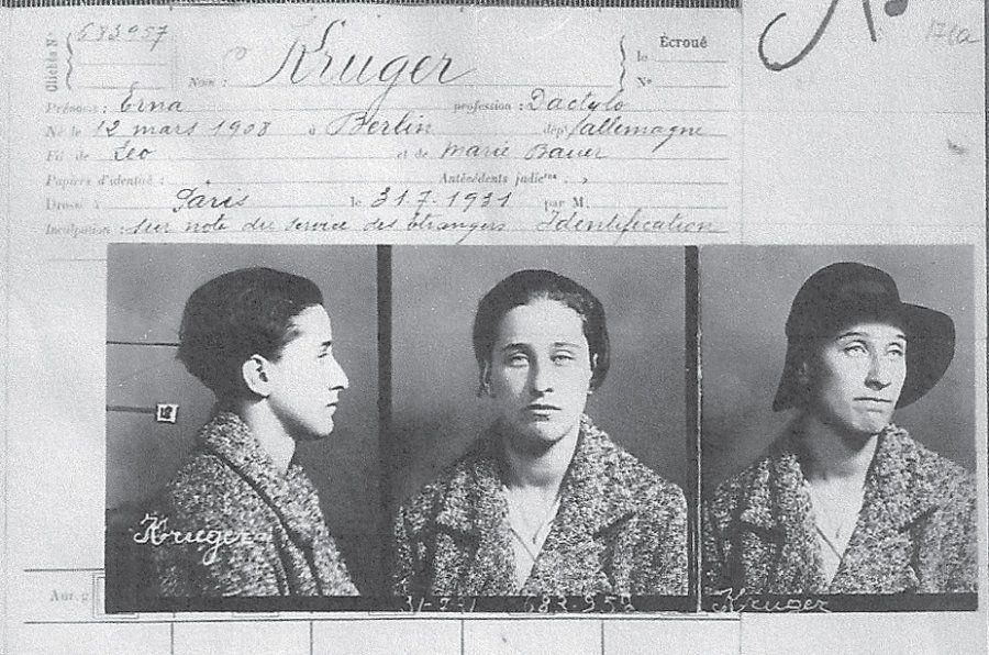 Emma Kruger foi o nome adotado por Olga Benario durante suas atividades clandestinas na França e na Bélgica...