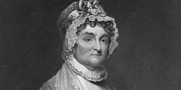 O rosto de Abigail Adams, uma mulher que não deixava homem algum lhe dar