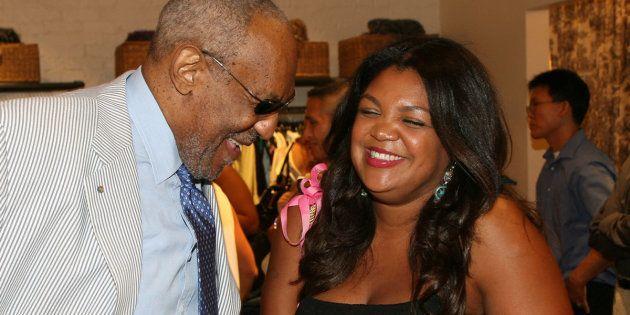 Bill Cosby com sua filha Evin em