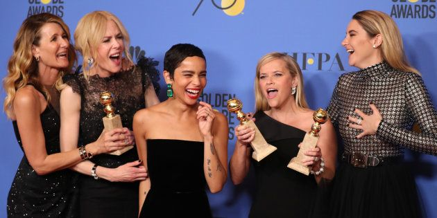 Vitórias de 'Big Little Lies' no Globo de Ouro empolgam Laura Dern, Nicole Kidman, Zoe Kravitz, Reese...
