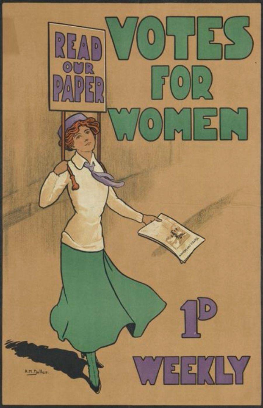 'Nossa arma é a opinião pública': Os cartazes históricos da luta das mulheres pelo direito ao
