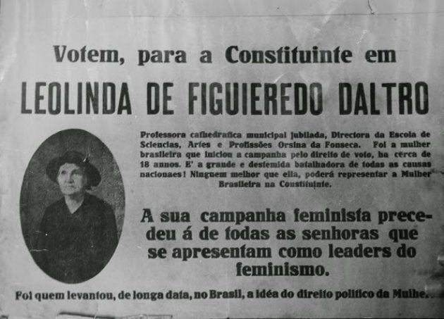 Resultado de imagem para Leolinda Daltro a sufragista