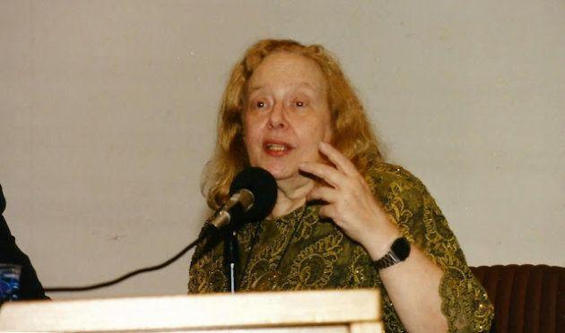 A escritora e editora Rose Marie Muraro, uma das líderes do movimento feminista no