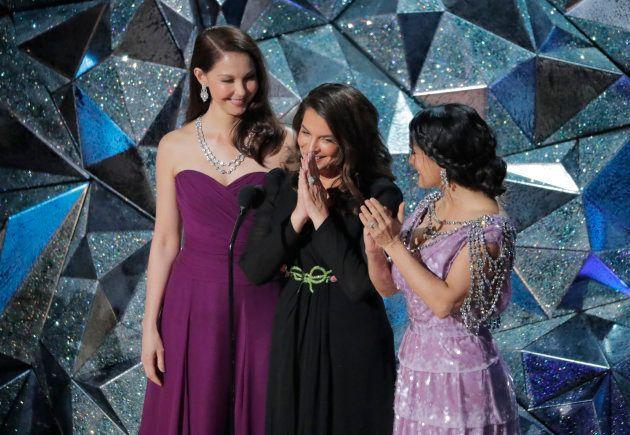 Ashley Judd, Annabella Sciorra and Salma Hayek são sobreviventes de assédio no