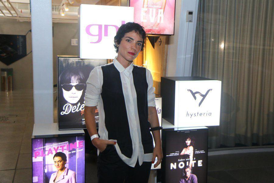 Anne Pinheiro Guimarães, que dirigiu e criou os roteiros de 'Desnude' na pré-estreia da série, no Rio...