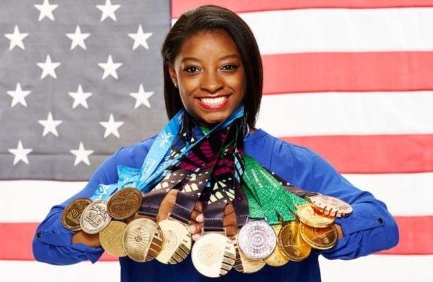 Biles tem 14 medalhas em Mundiais e 5 em