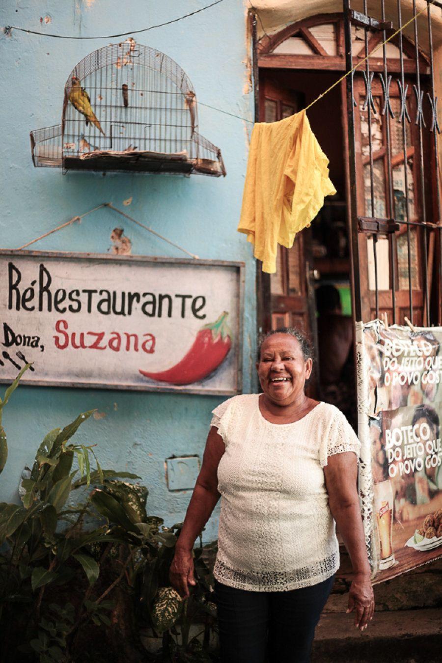 Na cabeça do cardápio do restaurante de Dona Suzana está que é pescado pela própria comunidade: peixe...