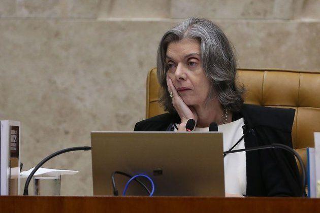 A presidente do Supremo Tribunal Federal, Cármen Lúcia, durante julgamento do pedido de habeas corpus...
