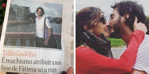 Túlio Gadêlha, namorado de Fátima Bernardes, deu entrevista à Folha de
