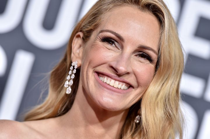 Julia Roberts was all smiles at the Golden Globes on Sunday.
