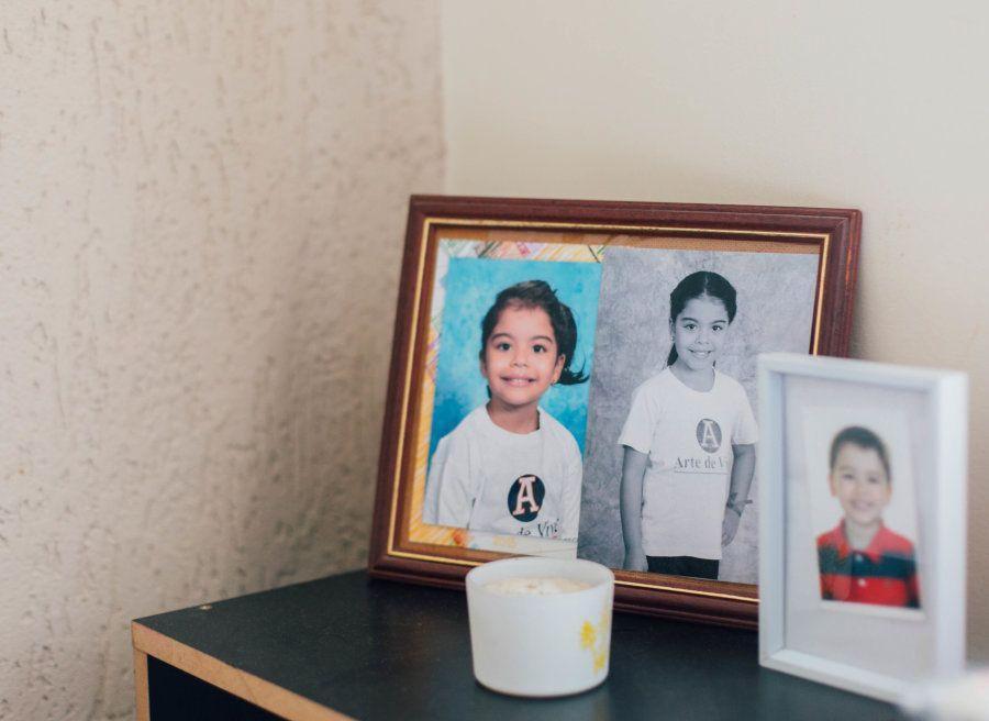 Vanessa tem dois filhos: uma menina de sete anos e um menino de