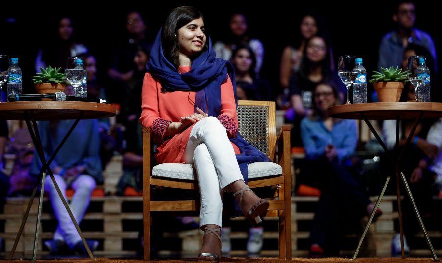 Malala em palestra no Auditório do Ibirapuera, em São Paulo. Em poucos dias, a ativista lançará projetos...